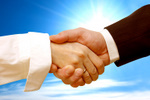 handshake-on-blue-background